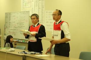 左から下瀬川病院長(本部長)、笹野総括副病院長(本部長補佐)