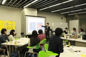 再生医療について講義する福本教授